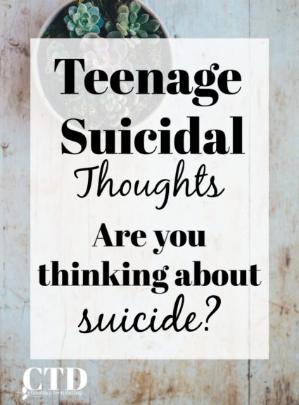 Teenage Suicidal Thoughts: Are You Thinking About Suicide?