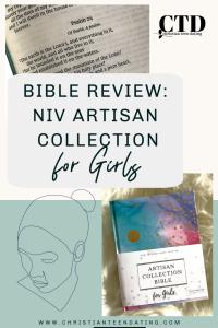 Bible Review NIV Artisan Collection Bible for Girls Pin Image #biblesforgirls #biblereview #biblesforteenagers #journalingbibles #bibleartjournaling #journalingartbibles #bibleart #biblejournaling #bibleartjournaling #bibleartjournalingforgirls