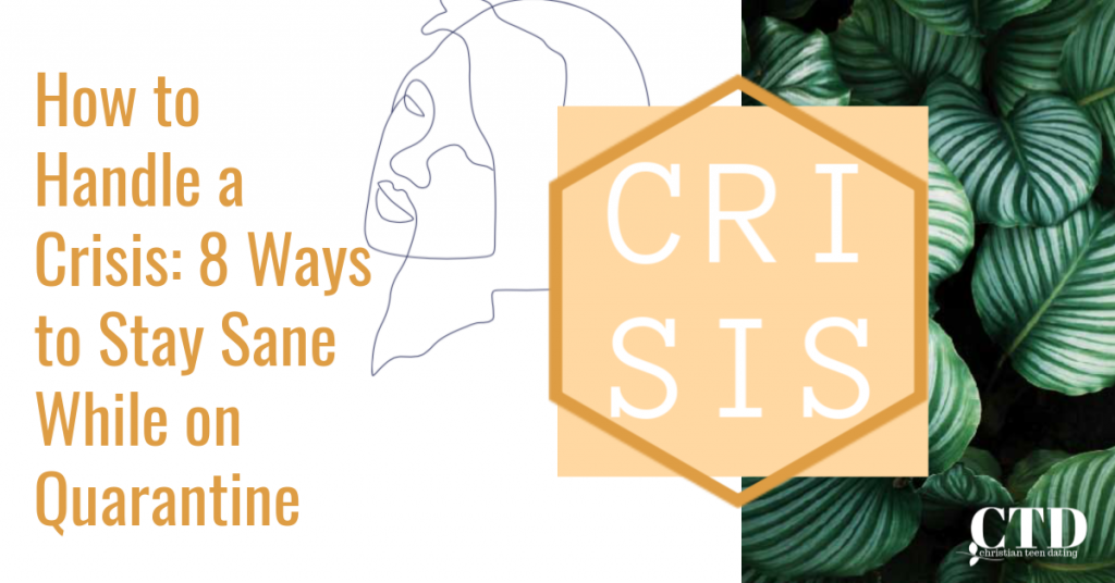 How to Handle a Crisis 8 Ways to Stay Sane While on Quarantine Image 11 #christianblogger #christianteens #christianadviceonstressmanagement #stressmanagement #howtohandleacrisis #howtohelpyourteenhandleacrisis #howtostaysanewhileonquarantine #waystohandlestress